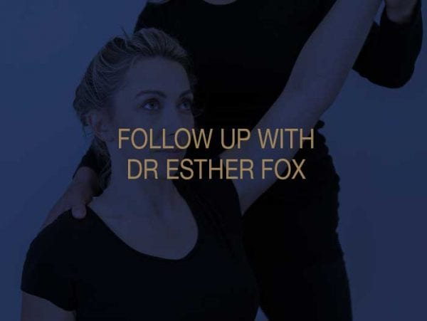 Follow Up at Mount Kelly with Dr Esther Fox